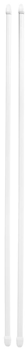 Штанга однорядная Эскар, металлическая, телескопическая, цвет: белый, длина 60-90 см, 2 шт9200800060Витражная штанга Эскар - это не только аксессуар для штор, но и элемент декора. Изделие выполнено из металла. Держатели штанг вкручиваются в раму в предварительно рассверленное отверстие.В комплект входят: 2 штанги, 6 крючков для крепления.Оригинальная и стильная штанга дополнит интерьер любой комнаты. Длина карниза: 60-90 см.