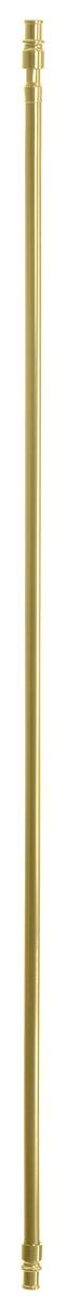 Карниз однорядный Эскар Калифорния, металлический, телескопический, цвет: латунь, диаметр 12 мм, длина 85-135 см68/5/3Круглый карниз Эскар Калифорния выполнен из металла. Подходит для использования одного вида занавесей. Поверхность гладкая. Крепление производится на раму, при помощи держателей на двухсторонний скотч или саморезы. В комплект входят: карниз, 2 коротких кронштейна, 2 длинных кронштейна, 4 самореза, 4 полоски двухстороннего скотча.Такой карниз будет органично смотреться в любом интерьере.Диаметр карниза: 12 мм.
