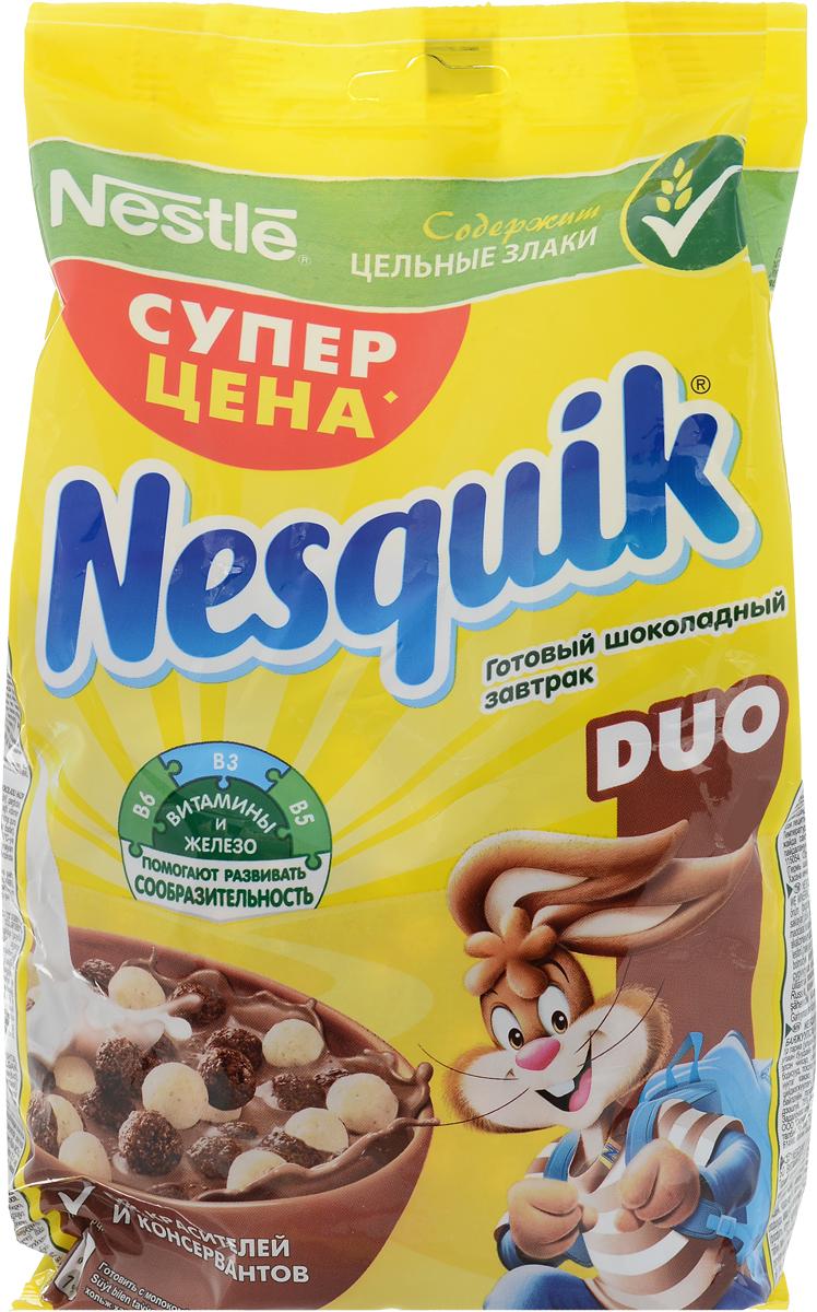 Nestle Nesquik Шоколадные шарики DUO готовый завтрак в пакете, 250 г готовый завтрак nestle nesquik шарики с шоколадом