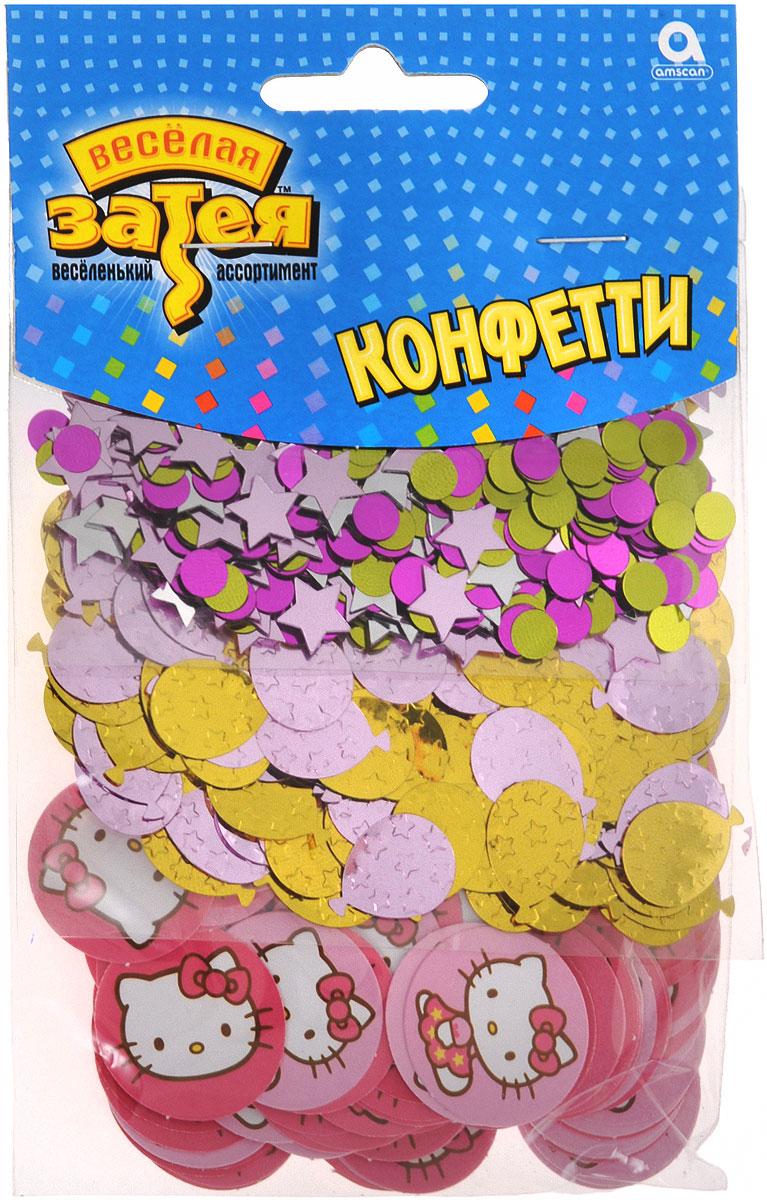 Веселая затея Конфетти Hello Kitty 3 вида 34 г -  Конфетти
