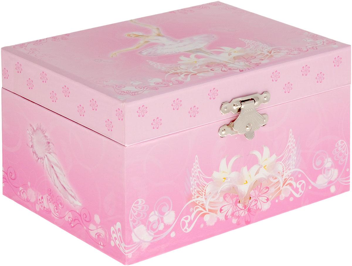 Jakos Музыкальная шкатулка Балерина цвет розовый белый -  Предметы интерьера
