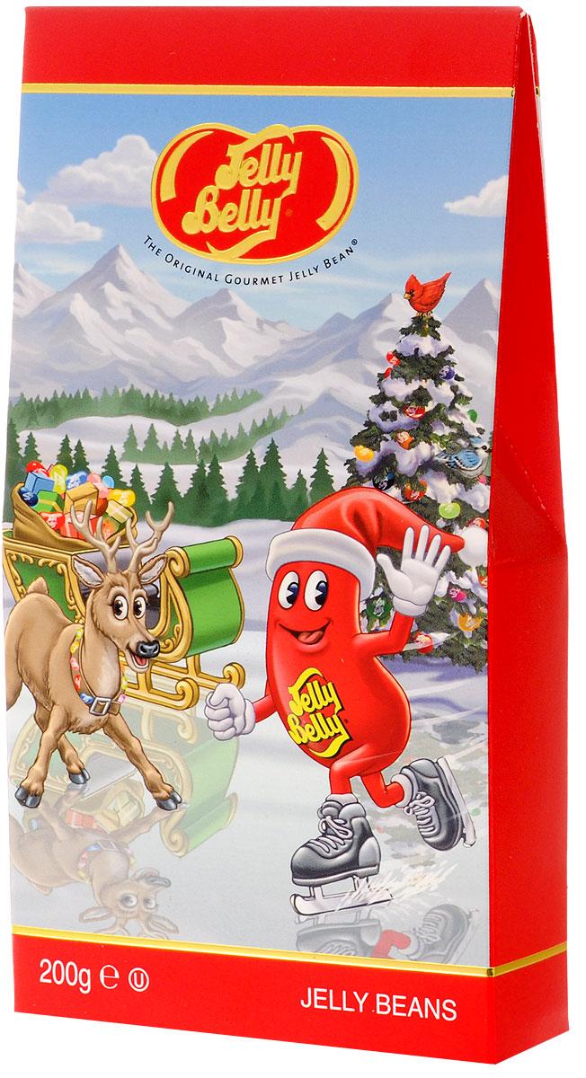 Jelly belly Рождественское жевательное драже, 20 вкусов, 200 г0120710Рождественское жевательное драже Jelly belly - это 20 невероятно сочных и популярных вкусов. Универсальный вариант подарка, подходящий для любого возраста.Удобно ставится на полку, привлекая яркой праздничной картинкой.
