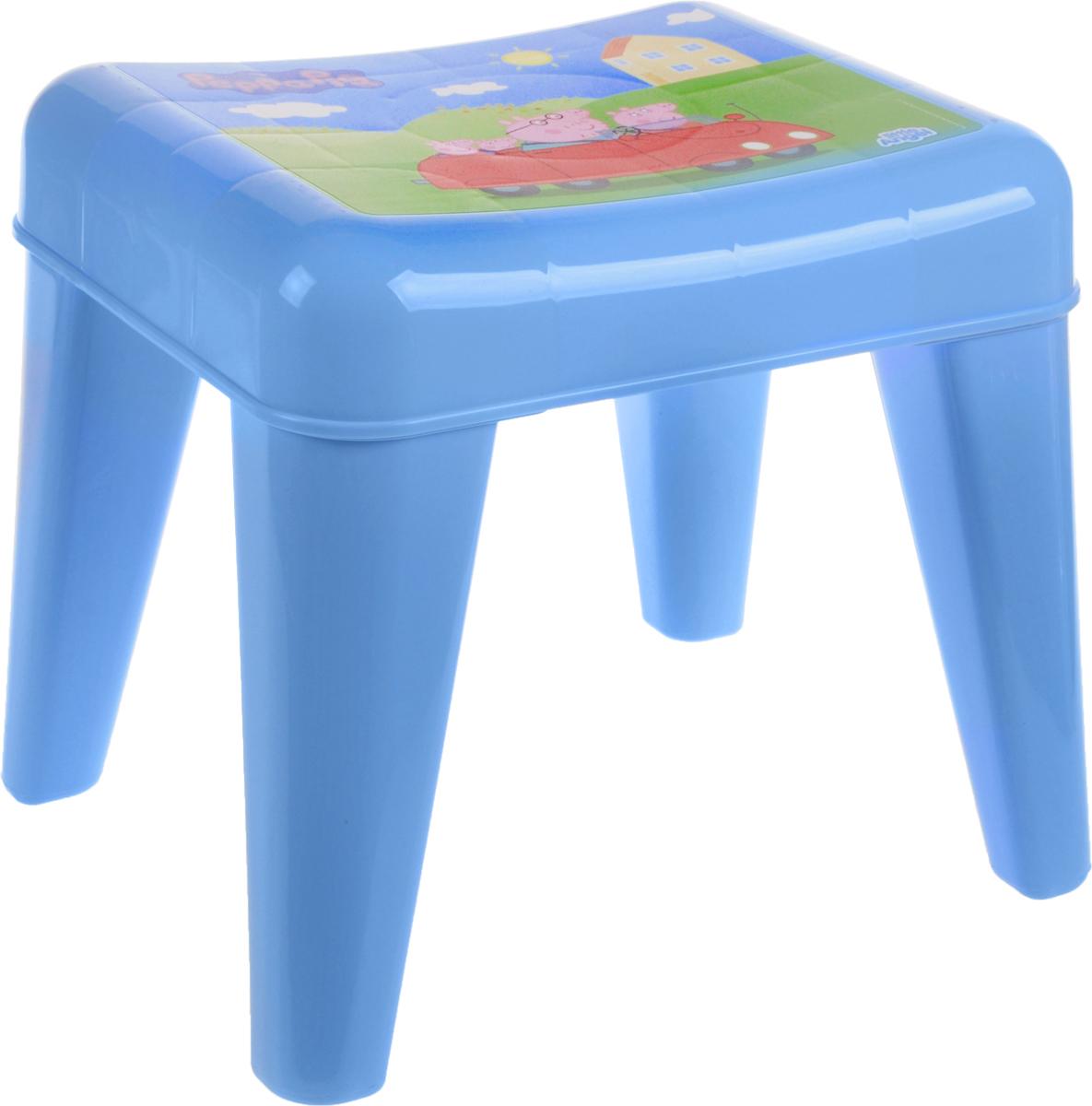 Табурет детский Little Angel  Свинка Пеппа. Я расту , цвет: голубой, зеленый, розовый, 35 х 29,5 х 30 см -  Детская мебель