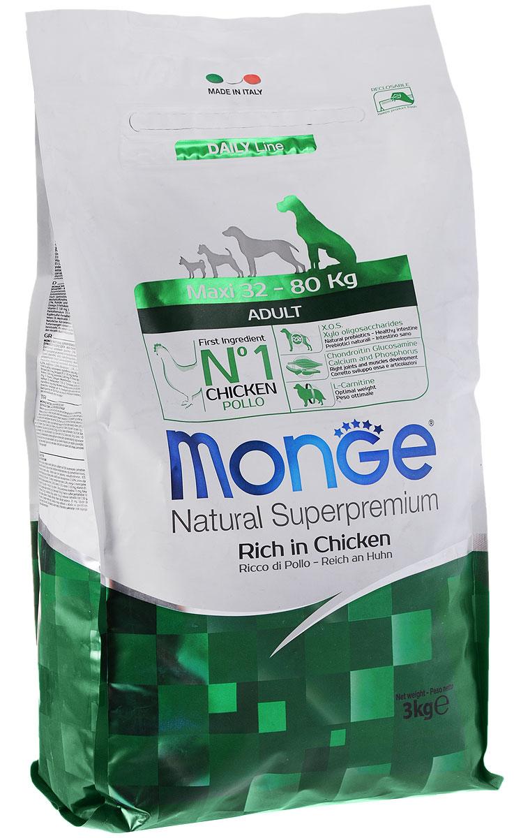 Корм сухой Monge для взрослых собак крупных пород, рис с курицей, 3 кг0120710Сухой корм Monge- это полноценный рацион для взрослых собак крупных пород. Собаки крупных и гигантских пород с нормальной физической активностью, безусловно, нуждаются в особых питательных веществах. Этот корм, легко усваиваемый и питательный, обогащен витаминами и минералами, имеет пониженное содержание жира, исходя из особенностей физиологии собак крупных пород. Корм обеспечивает поддержание идеального веса собаки и снижения до минимума нагрузок на суставы. Корм производится из отборного мяса высшего качества. Высокое содержание глюкозамина и хондроитина способствует развитию здоровых суставов и оптимальному развитию скелета.Состав: куриное мясо (свежее мин. 10%, обезвоженное 26%), рис (мин. 26%), кукуруза, куриное масло, свекольный жом, овес, дрожжи, яичный крахмал, мука сельди, рыбий жир, экстракт Юкки Шидигера, цистин, морские водоросли, фруктоолигосахариды 330 мг/кг, маннан-олигосахариды 330 мг/кг, хондроитин сульфат 105 мг/кг, метилсульфонилметан 150 мг/кг, глюкозамин 150 мг/кг.Анализ: протеин 26%, масла и жиры 10%, сырая клетчатка 2,5%, сырая зола 6%, фосфор 1,25%, линолевая кислота 1,7%, Омега-6 2,07%, Омега-3 0,48%.Пищевые добавки, витамины: витамин А 19700 МЕ/кг, витамин D3 1350 МЕ/кг, витамин Е 126 мг/кг, витамин С 35 мг/кг, кальций 13,69 мг/кг, холина хлорид 192 мг/кг, хлорид калия 6,645 мг/кг, витамин B1 14 мг/кг, витамин B2 14 мг/кг, витамин В6 4 мг/кг, витамин В12 0,08 мг/кг, биотин 0,26 мг/кг, L-карнитин 60 мг/кг, цинк 128 мг/кг, железо 80 мг/кг, марганец 30 мг/кг, медь 12 мг/кг, йод 0,80 мг/кг, аминокислоты (метионин 1560 мг/кг).Товар сертифицирован.