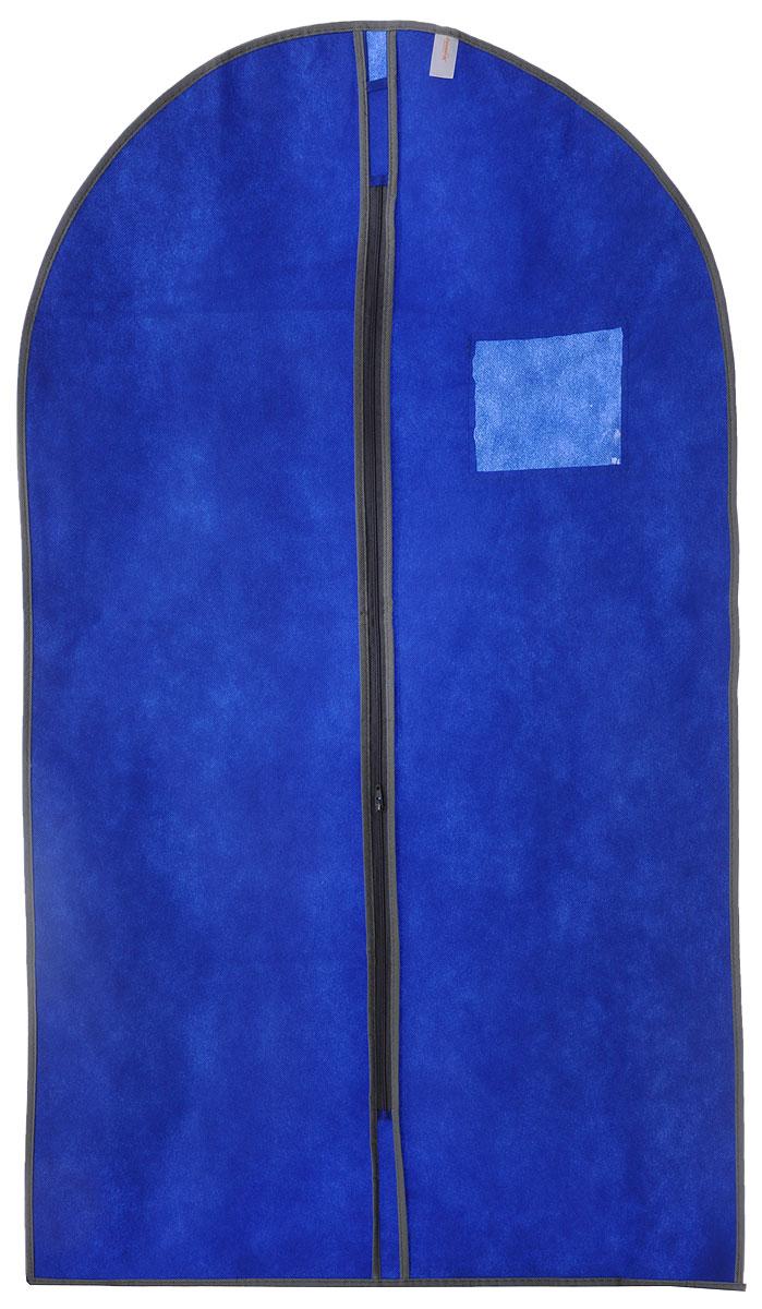 Чехол для одежды Хозяюшка Мила, тканевый, цвет: серый, синий, 60 х 100 см47010_серый, синийЧехол для одежды Хозяюшка Мила изготовлен из вискозы и оснащен застежкой-молнией. Особое строение полотна создает естественную вентиляцию: материал дышит и позволяет воздуху свободно проникать внутрь чехла, не пропуская пыль. Прозрачное окошко позволяет увидеть, какие вещи находятся внутри. Чехол для одежды будет очень полезен при транспортировке вещей на близкие и дальние расстояния, при длительном хранении сезонной одежды, а также при ежедневном хранении вещей из деликатных тканей. Чехол для одежды Хозяюшка Мила защитит ваши вещи от повреждений, пыли, моли, влаги и загрязнений.