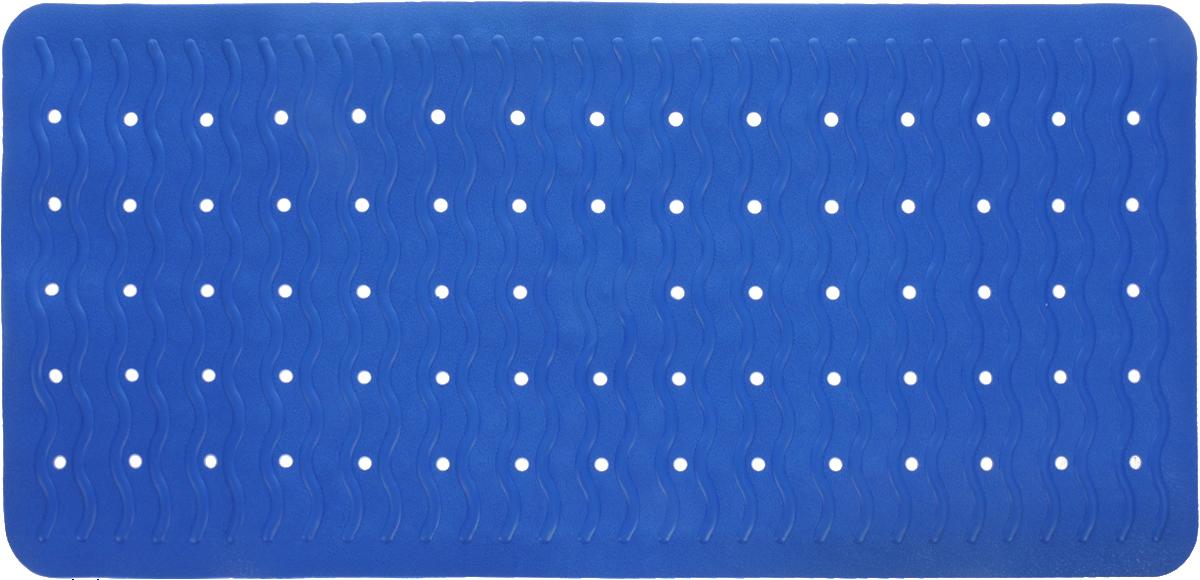 Коврик для ванной Ridder Playa, противоскользящий, цвет: синий, 38 х 80 см7280341Коврик для ванной Ridder Playa, изготовленный из каучука с защитой от плесени и грибка, создает комфортное антискользящее покрытие в ванне. Коврик долго прослужит в вашем доме, добавляя тепло и уют, а также внесет неповторимый колорит в интерьер ванной комнаты.