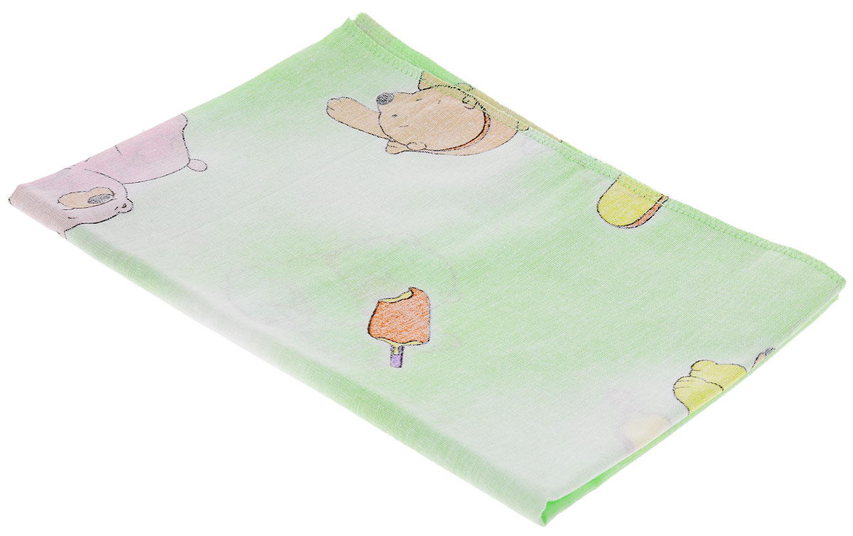 Фея Наволочка детская Мишки и мороженое цвет зеленый 40 см х 60 см