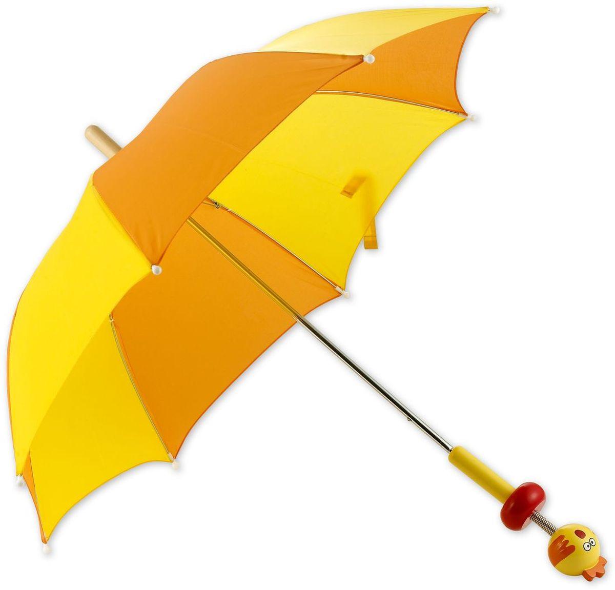 Classic World Зонт с ручкой ЦыпленокCX1516-50-10Современный зонтик с жесткими спицами, которые препятствуют его деформации под действием ветра. Защищает от солнечных лучей и осадков. Благодаря оригинальному и яркому дизайну ваш малыш всегда будет выглядеть стильно. Удобная рукоятка выполнена в виде цыпленка. Размеры зонтика идеально подходят для детей от 2 лет.