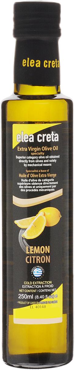 Elea Creta масло оливковое Extra Virgin с лимоном, 250 мл0120710Оливковое нерафинированное масло Elea Creta Extra Virgin холодного отжима с натуральным экстрактом лимона.Отлично сочетается с блюдами из овощей и бобовых, пастой, рыбой, приготовленной на гриле, жареным красным мясом.Не содержит холестерин.
