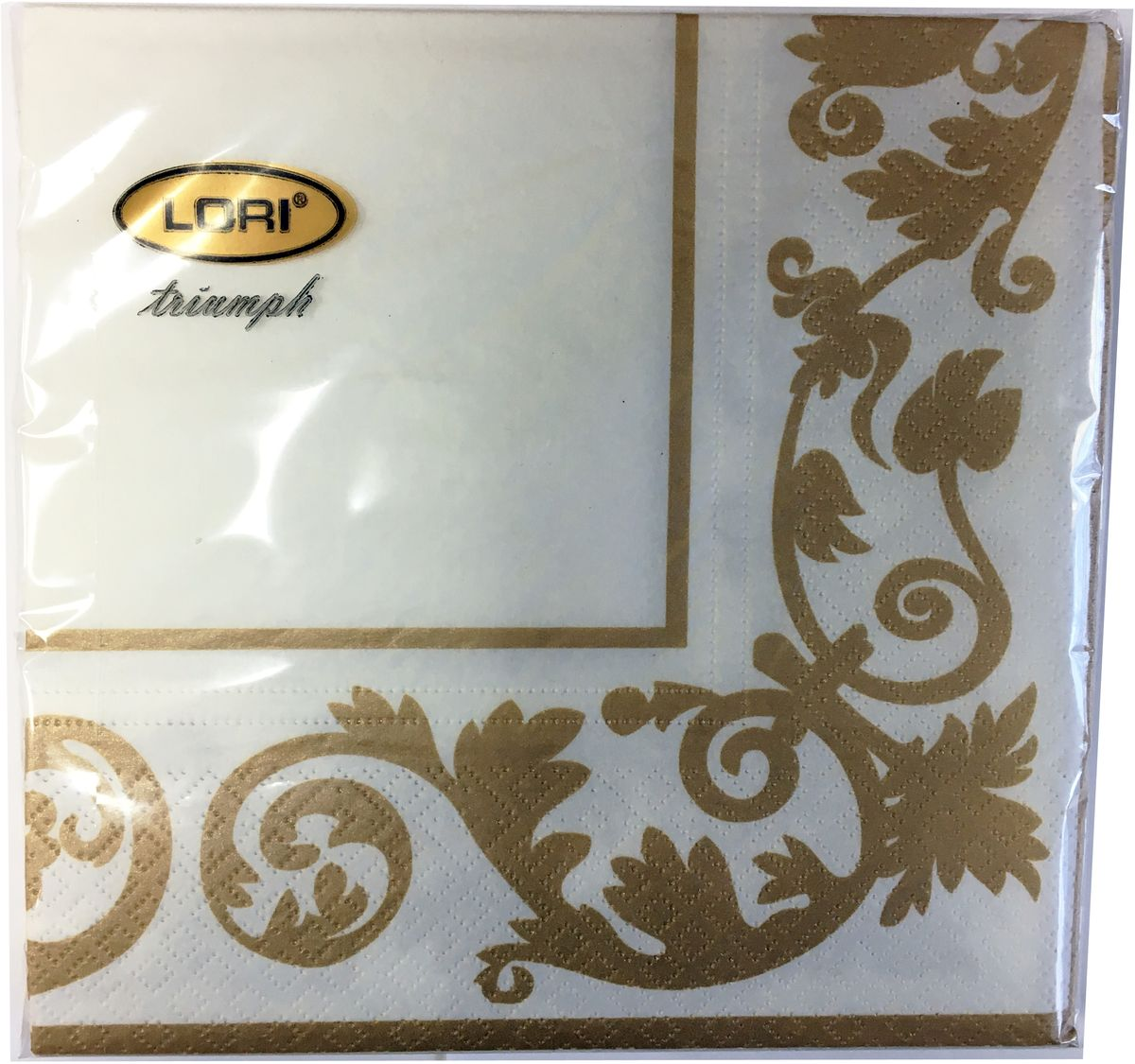Салфетки бумажные Lori Triumph, трехслойные, цвет: коричневый, белый, 33 х 33 см, 20 шт. 560539103500790Декоративные трехслойные салфетки Lori Triumph выполнены из 100% целлюлозы и оформлены ярким рисунком. Изделия станут отличным дополнением любого праздничного стола. Они отличаются необычной мягкостью, прочностью и оригинальностью.Размер салфеток в развернутом виде: 33 х 33 см.