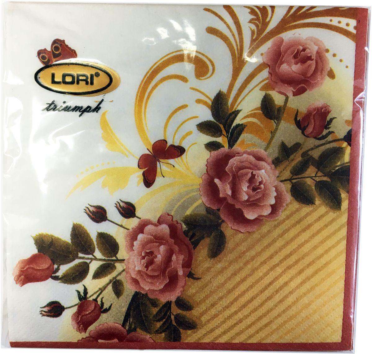 Салфетки бумажные Lori Triumph, трехслойные, цвет: розовый, желтый, белый, 33 х 33 см, 20 шт. 5619856198Декоративные трехслойные салфетки Lori Triumph выполнены из 100% целлюлозы и оформлены ярким рисунком. Изделия станут отличным дополнением любого праздничного стола. Они отличаются необычной мягкостью, прочностью и оригинальностью.Размер салфеток в развернутом виде: 33 х 33 см.