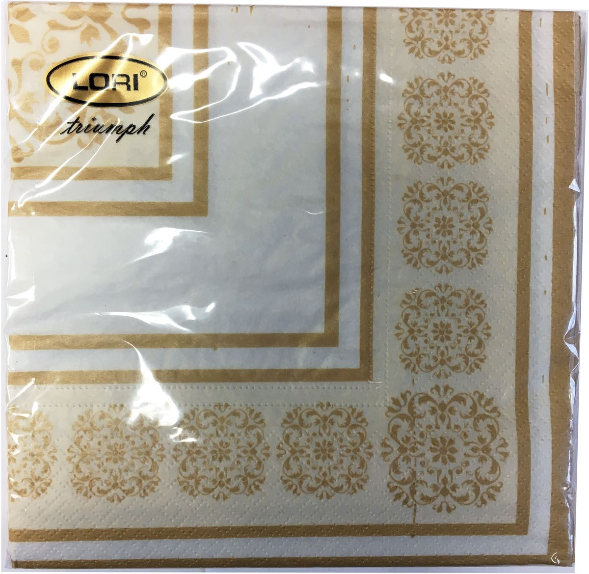 Салфетки бумажные Lori Triumph, трехслойные, цвет: коричневый, белый, 33 х 33 см, 20 шт. 566174606920000043_оранжевый, коричневыйДекоративные трехслойные салфетки Lori Triumph выполнены из 100% целлюлозы и оформлены ярким рисунком. Изделия станут отличным дополнением любого праздничного стола. Они отличаются необычной мягкостью, прочностью и оригинальностью.Размер салфеток в развернутом виде: 33 х 33 см.
