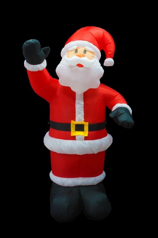 """3D фигура надувная Neon-Night """"Дед Мороз приветствует"""", с подсветкой, высота 240 см"""