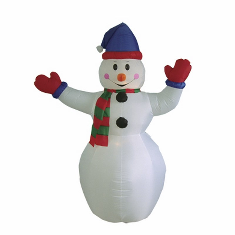 """3D фигура надувная Neon-Night """"Снеговик с шарфом"""", с подсветкой, высота 180 см"""