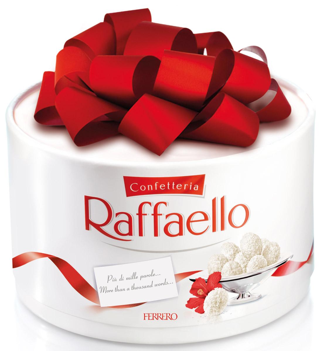 Raffaello конфеты с цельным миндальным орехом в кокосовой обсыпке, 600 г0120710Конфеты Рафаэлло с цельным миндальным орехом в кокосовой обсыпке.