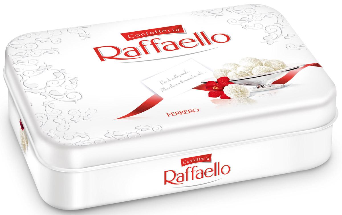 Raffaello конфеты с цельным миндальным орехом в кокосовой обсыпке, 300 г0120710Конфеты Рафаэлло с цельным миндальным орехом в кокосовой обсыпке.
