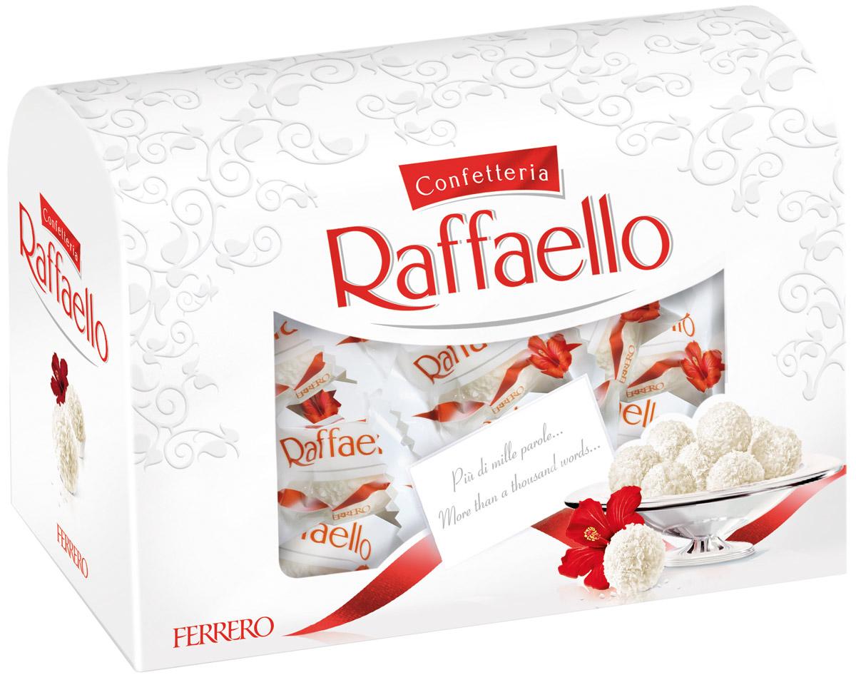 Raffaello конфеты с цельным миндальным орехом в кокосовой обсыпке, 240 г77115586/77110089/77098332Конфеты Рафаэлло с цельным миндальным орехом в кокосовой обсыпке.