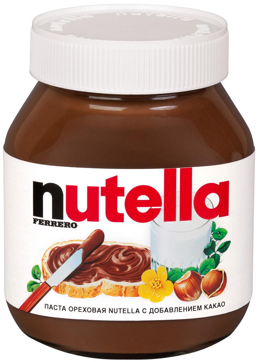 Nutella паста ореховая с добавлением какао, 630 г0120710Nutella обладает неповторимым вкусом лесных орехов и какао, а ее нежная кремовая текстура делает вкус еще интенсивнее. Секрет уникального вкуса в особенном рецепте, отборных ингредиентах и тщательном приготовлении. При производстве Nutella не используются консерванты и красители. Сегодня Nutella является одной из самых узнаваемых и любимых марок в мире, продуктом, продажи которого составляют треть годового оборота компании Ferrero. Хороший день начинается с Nutella!