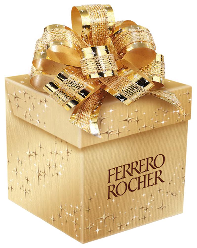 Ferrero Rocher конфеты хрустящие из молочного шоколада, покрытые измельченными орешками, с начинкой из крема и лесного ореха, 75 г4680016273085Отборный цельный лесной орех в окружении молочного шоколада и нежного орехового крема, заключенные в хрустящую вафельную оболочку, покрытую шоколадно-ореховой крошкой.