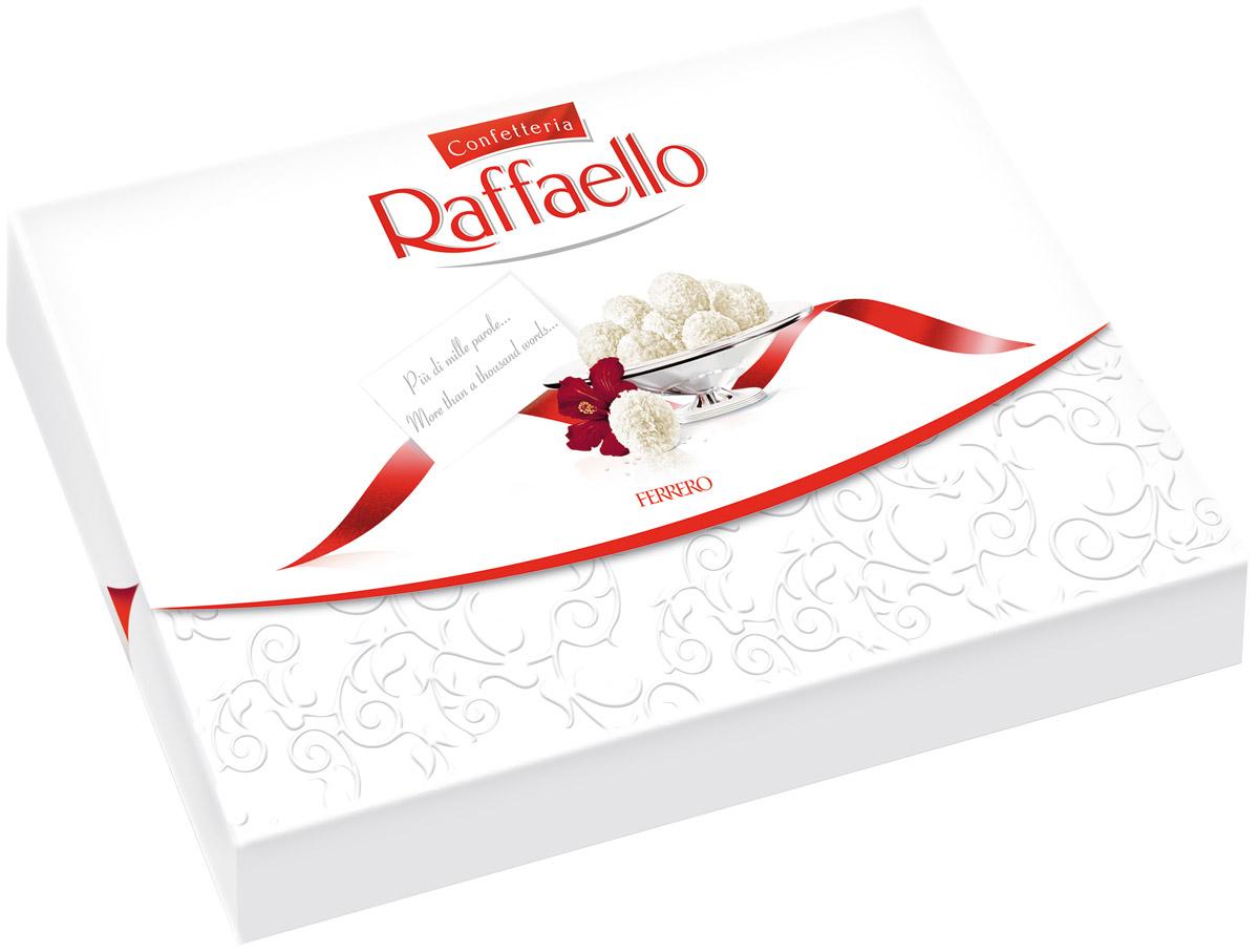 Raffaello конфеты с цельным миндальным орехом в кокосовой обсыпке, 90 г0120710Конфеты Рафаэлло с цельным миндальным орехом в кокосовой обсыпке.
