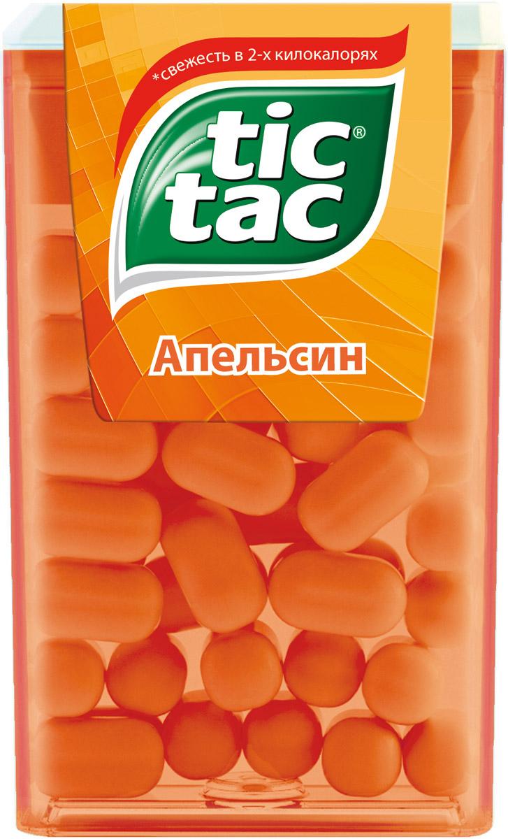 Tic Tac Апельсин драже, 16 г0120710Тик Так– это освежающее драже c ярким и бодрящим вкусом в удобной упаковке. Тик Так пришел на российский рынок в 90-ые годы 20 века и по сей день является любимым и хорошо знакомым взрослым и детям продуктом. Мята, Апельсин, Клубничный Микс и Мятный Микс – калейдоскоп вкусов Тик Так дарит заряд свежести и позитивной энергии. Под тонкой ванильной оболочкой скрывается уникальный вкус и источник свежести. Это больше, чем двойной эффект и второе дыхание! Яркое драже Тик Так с незабываемо свежими вкусами поможет наполнить твой день яркими моментами!