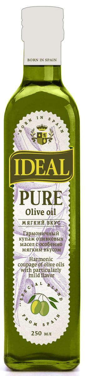 Ideal Pure масло оливковое, 0,25 л1610034Каждая хозяйка знает, что в кулинарии важна любая мелочь для создания идеальной композиции вкусовых оттенков. Именно поэтому многие выбирают масло IDEAL Pure, будучи уверенными, что в каждой бутылке всегда один и тот же вкус, состав, консистенция, наивысшие показатели качества.