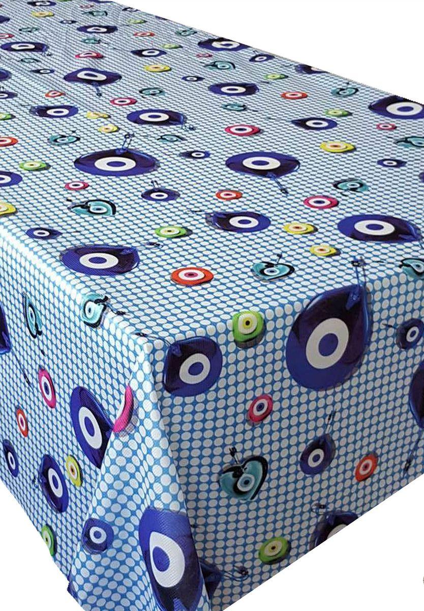 Скатерть Ambesonne Амулеты на голубом фоне, квадратная, 150 x 150 смBD1557VIOLETMAVI_AКрасочная фотоскатерть Ambesonne Амулеты на голубом фоне выполнена из тканевого полиэстера и украшена оригинальным рисунком. Изделие создаст атмосферу уюта и домашнего тепла в интерьере вашей кухни.В современном мире кухня - это не просто помещение для приготовления и приема пищи. Это особое место, где собирается вся семья и царит душевная атмосфера.