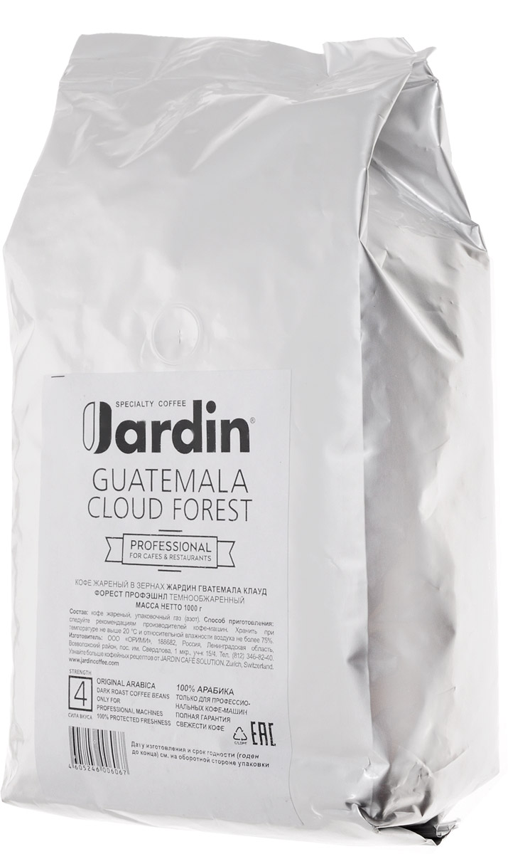 Jardin Guatemala Cloud Forest кофе в зернах, 1 кг (промышленная упаковка)0120710Зерновой кофе Jardin Guatemala Cloud Forest отличается своеобразным вкусом - плотным, с тонкой кислинкой и нотами черной смородины, а также долгим послевкусием. Этот сорт кофе выращивают в Гватемале на плодородных почвах вулканического происхождения, во влажном климате субтропических лесов. Уважаемые клиенты! Обращаем ваше внимание на то, что упаковка может иметь несколько видов дизайна. Поставка осуществляется в зависимости от наличия на складе.