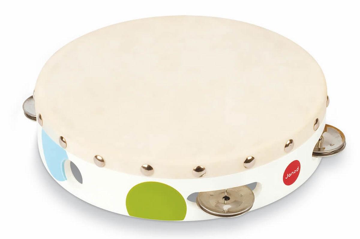 Janod Бубен цвет белый - Музыкальные инструменты