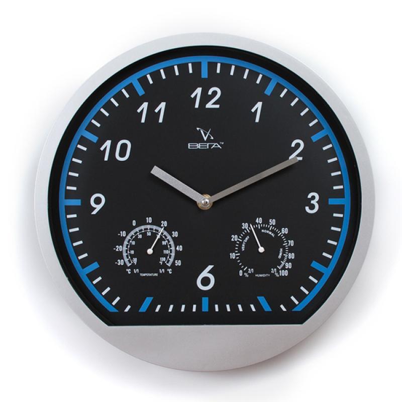 Часы настенные Вега Метеостанция94672Оригинальные настенные часы круглой формы Вега Метеостанция выполнены из пластика. Часы имеют две стрелки - часовую и минутную. Необычное дизайнерское решение и качество исполнения придутся по вкусу каждому. Оформите свой дом таким интерьерным аксессуаром или преподнесите его в качестве презента друзьям, и они оценят ваш оригинальный вкус и неординарность подарка.Часы работают от 1 батарейки типа АА напряжением 1,5 В (в комплект не входит).