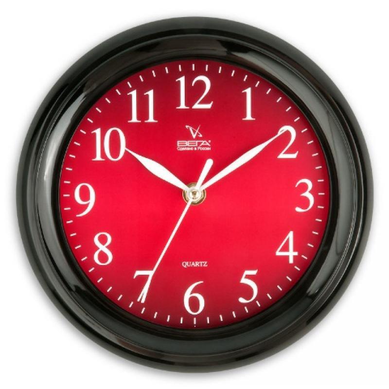 Часы настенные Вега Классика бордовая, цвет: черный54 009312Оригинальные настенные часы круглой формы Вега Классика бордовая выполнены из пластика. Часы имеют три стрелки - часовую, минутную и секундную. Необычное дизайнерское решение и качество исполнения придутся по вкусу каждому. Оформите свой дом таким интерьерным аксессуаром или преподнесите его в качестве презента друзьям, и они оценят ваш оригинальный вкус и неординарность подарка.Часы работают от 1 батарейки типа АА напряжением 1,5 В (в комплект не входит).