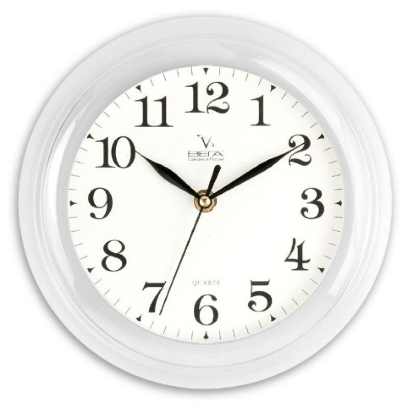 Часы настенные Вега Классика, цвет: белый. П6-7-1994672Оригинальные настенные часы круглой формы Вега Классика выполнены из пластика. Часы имеют три стрелки - часовую, минутную и секундную. Необычное дизайнерское решение и качество исполнения придутся по вкусу каждому. Оформите свой дом таким интерьерным аксессуаром или преподнесите его в качестве презента друзьям, и они оценят ваш оригинальный вкус и неординарность подарка.Часы работают от 1 батарейки типа АА напряжением 1,5 В (в комплект не входит).