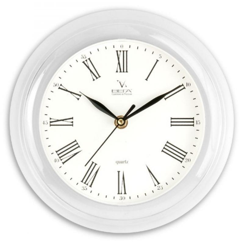 Часы настенные Вега Классика римская54 009312Оригинальные настенные часы круглой формы Вега Классика римская выполнены из пластика. Часы имеют три стрелки - часовую, минутную и секундную. Необычное дизайнерское решение и качество исполнения придутся по вкусу каждому. Оформите свой дом таким интерьерным аксессуаром или преподнесите его в качестве презента друзьям, и они оценят ваш оригинальный вкус и неординарность подарка.Часы работают от 1 батарейки типа АА напряжением 1,5 В (в комплект не входит).