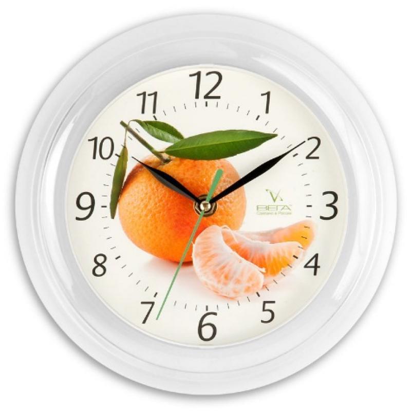 Часы настенные Вега МандаринП6-7-5Оригинальные настенные часы круглой формы Вега Мандарин выполнены из пластика. Часы имеют три стрелки - часовую, минутную и секундную. Необычное дизайнерское решение и качество исполнения придутся по вкусу каждому. Оформите свой дом таким интерьерным аксессуаром или преподнесите его в качестве презента друзьям, и они оценят ваш оригинальный вкус и неординарность подарка.Часы работают от 1 батарейки типа АА напряжением 1,5 В (в комплект не входит).