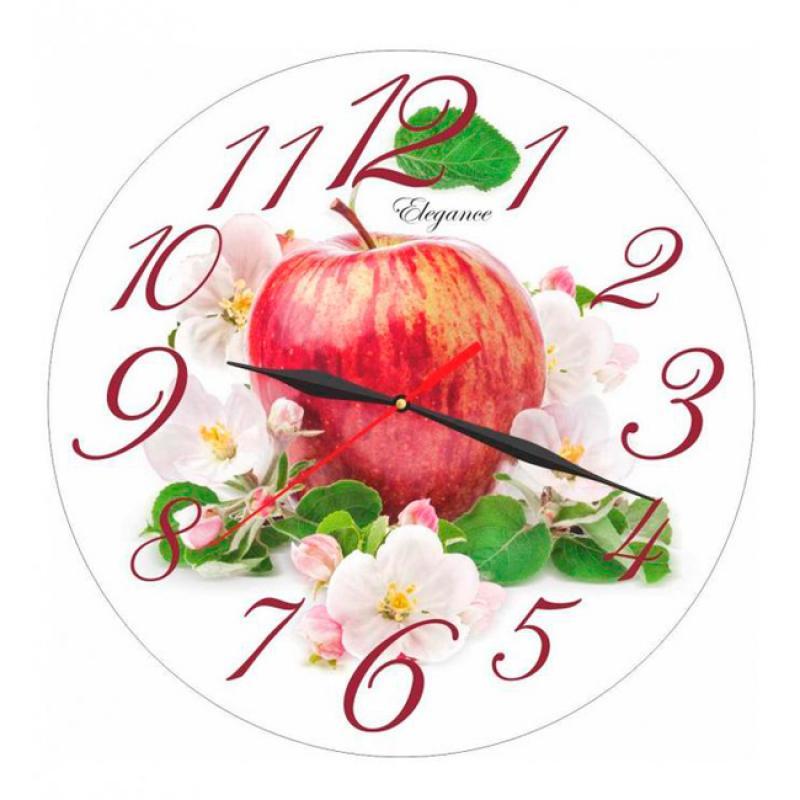 Часы настенные Вега Яблоко54 009303Оригинальные настенные часы круглой формы Вега Яблоко придутся вам по душе. Часы имеют три стрелки - часовую, минутную и секундную. Необычное дизайнерское решение и качество исполнения придутся по вкусу каждому. Оформите свой дом таким интерьерным аксессуаром или преподнесите его в качестве презента друзьям, и они оценят ваш оригинальный вкус и неординарность подарка.Часы работают от 1 батарейки типа АА напряжением 1,5 В (в комплект не входит).