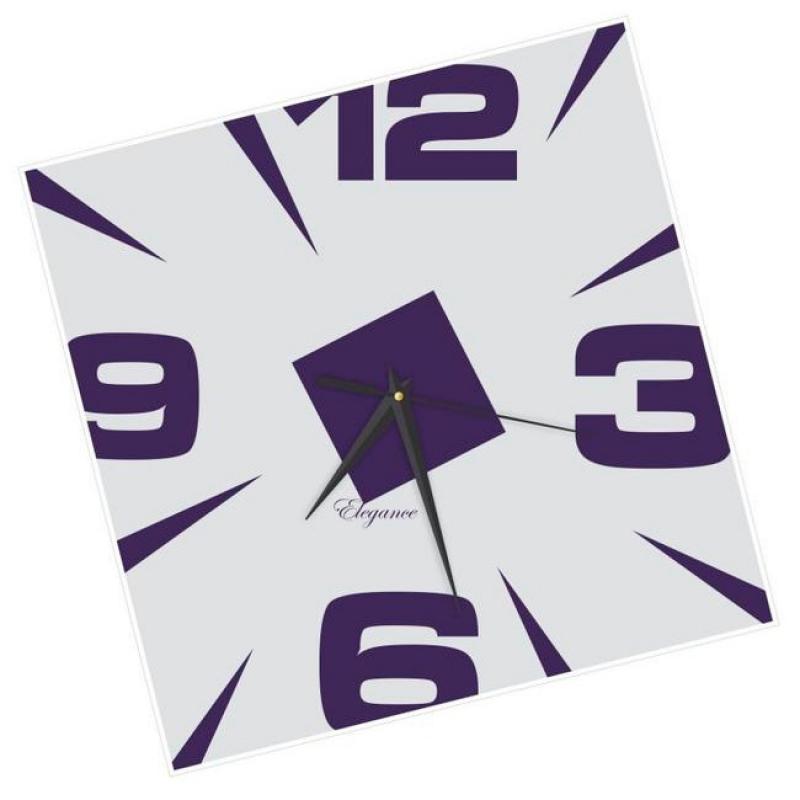 Часы настенные Вега Ромб фиолетовыйСО2-2Оригинальные настенные часы квадратной формы Вега Ромб фиолетовый выполнены из пластика. Часы имеют три стрелки - часовую, минутную и секундную. Необычное дизайнерское решение и качество исполнения придутся по вкусу каждому. Оформите свой дом таким интерьерным аксессуаром или преподнесите его в качестве презента друзьям, и они оценят ваш оригинальный вкус и неординарность подарка.Часы работают от 1 батарейки типа АА напряжением 1,5 В (в комплект не входит).
