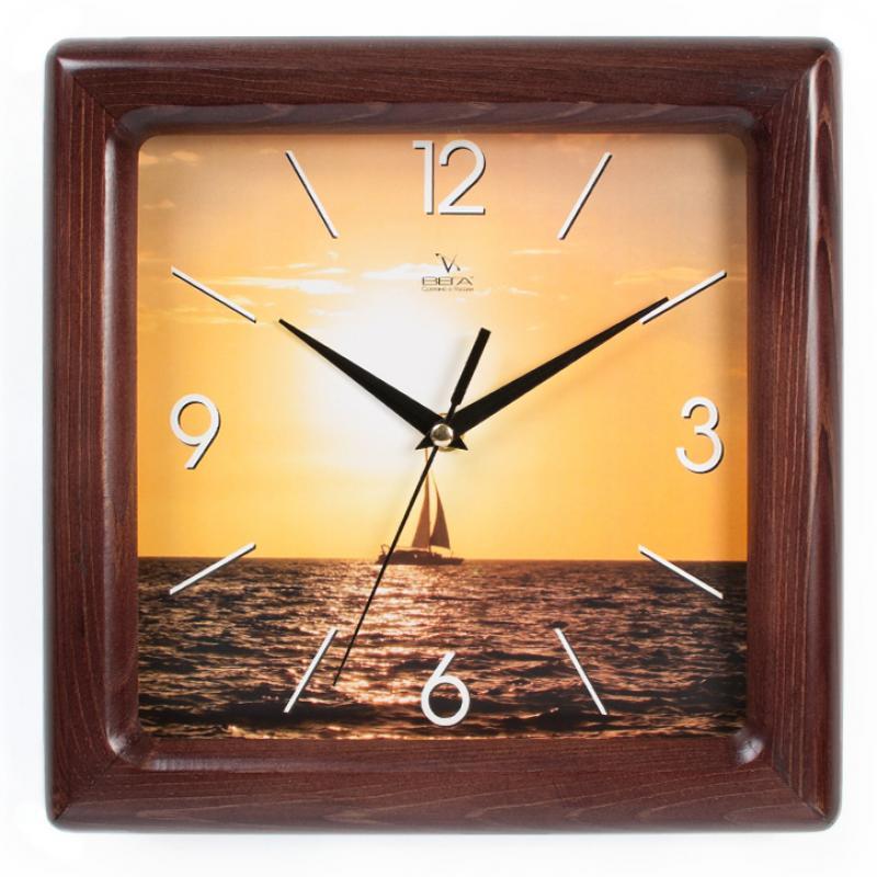 Часы настенные Вега Парусник. Д4МД/7-77Д4МД/7-77Оригинальные настенные часы квадратной формы Вега Парусник выполнены из дерева и пластика. Часы имеют три стрелки - часовую, минутную и секундную. Необычное дизайнерское решение и качество исполнения придутся по вкусу каждому. Оформите свой дом таким интерьерным аксессуаром или преподнесите его в качестве презента друзьям, и они оценят ваш оригинальный вкус и неординарность подарка.Часы работают от 1 батарейки типа АА напряжением 1,5 В (в комплект не входит).