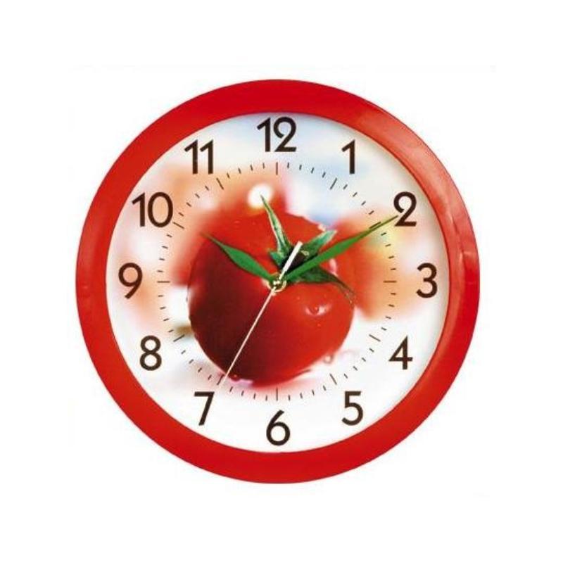 Часы настенные Вега ПомидорП1-1/7-57Оригинальные настенные часы круглой формы Вега Помидор выполнены из пластика. Часы имеют три стрелки - часовую, минутную и секундную. Необычное дизайнерское решение и качество исполнения придутся по вкусу каждому. Оформите свой дом таким интерьерным аксессуаром или преподнесите его в качестве презента друзьям, и они оценят ваш оригинальный вкус и неординарность подарка.Часы работают от 1 батарейки типа АА напряжением 1,5 В (в комплект не входит).