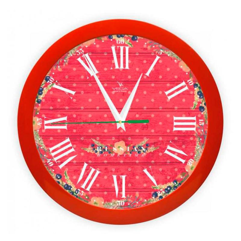 Часы настенные Вега Яркие краски300074_ежевикаОригинальные настенные часы круглой формы Вега Яркие краски выполнены из пластика. Часы имеют три стрелки - часовую, минутную и секундную. Необычное дизайнерское решение и качество исполнения придутся по вкусу каждому. Оформите свой дом таким интерьерным аксессуаром или преподнесите его в качестве презента друзьям, и они оценят ваш оригинальный вкус и неординарность подарка.Часы работают от 1 батарейки типа АА напряжением 1,5 В (в комплект не входит).