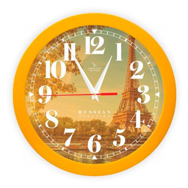 Часы настенные Вега Осенний Париж94672Оригинальные настенные часы круглой формы Вега Осенний Париж выполнены из пластика. Часы имеют три стрелки - часовую, минутную и секундную. Необычное дизайнерское решение и качество исполнения придутся по вкусу каждому. Оформите свой дом таким интерьерным аксессуаром или преподнесите его в качестве презента друзьям, и они оценят ваш оригинальный вкус и неординарность подарка.Часы работают от 1 батарейки типа АА напряжением 1,5 В (в комплект не входит).