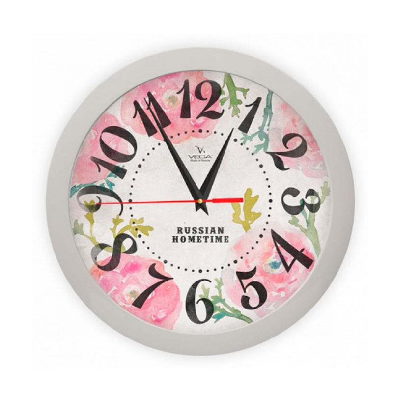 Часы настенные Вега Розовые макиП1-5/7-269Оригинальные настенные часы круглой формы Вега Розовые маки выполнены из пластика. Часы имеют три стрелки - часовую, минутную и секундную. Необычное дизайнерское решение и качество исполнения придутся по вкусу каждому. Оформите свой дом таким интерьерным аксессуаром или преподнесите его в качестве презента друзьям, и они оценят ваш оригинальный вкус и неординарность подарка.Часы работают от 1 батарейки типа АА напряжением 1,5 В (в комплект не входит).