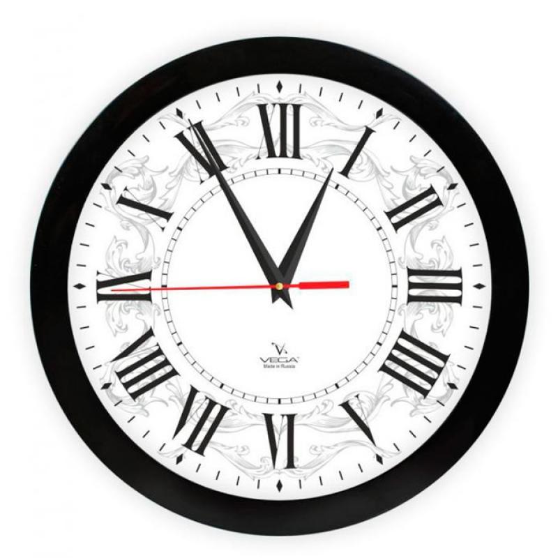 Часы настенные Вега Римская классикаП1-6/7-277Оригинальные настенные часы круглой формы Вега Римская классика выполнены из пластика. Часы имеют три стрелки - часовую, минутную и секундную. Необычное дизайнерское решение и качество исполнения придутся по вкусу каждому. Оформите свой дом таким интерьерным аксессуаром или преподнесите его в качестве презента друзьям, и они оценят ваш оригинальный вкус и неординарность подарка.Часы работают от 1 батарейки типа АА напряжением 1,5 В (в комплект не входит).