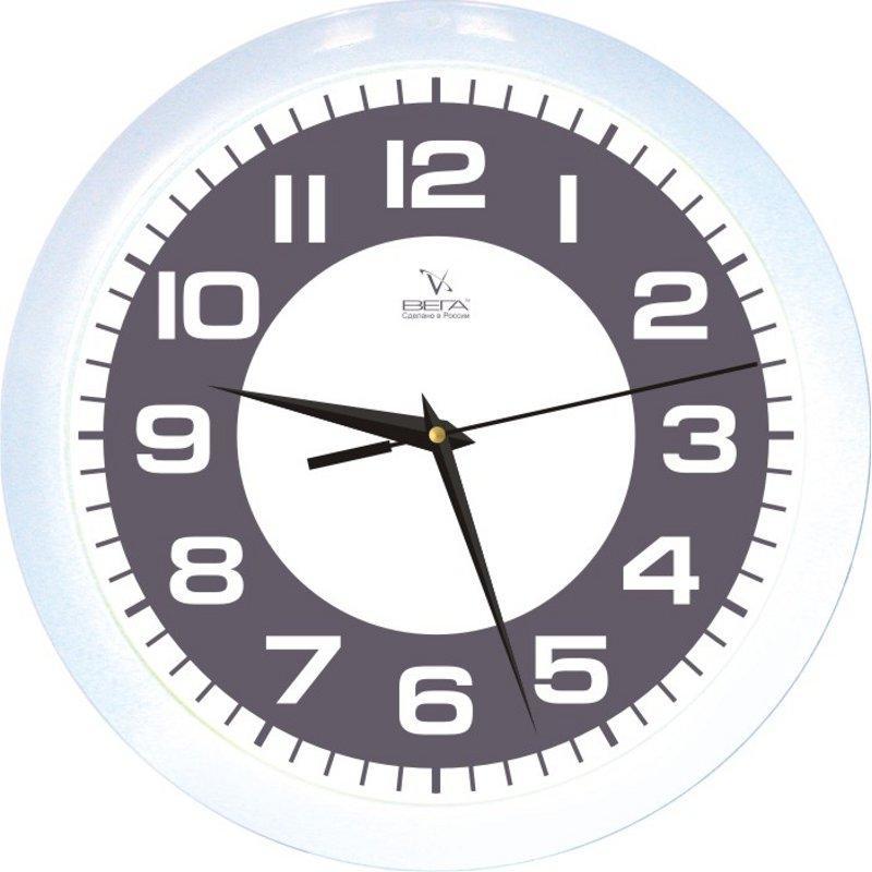Часы настенные Вега Классика, цвет: черно-белыйП1-7/7-77Оригинальные настенные часы круглой формы Вега Классика выполнены из пластика. Часы имеют три стрелки - часовую, минутную и секундную. Необычное дизайнерское решение и качество исполнения придутся по вкусу каждому. Оформите свой дом таким интерьерным аксессуаром или преподнесите его в качестве презента друзьям, и они оценят ваш оригинальный вкус и неординарность подарка.Часы работают от 1 батарейки типа АА напряжением 1,5 В (в комплект не входит).