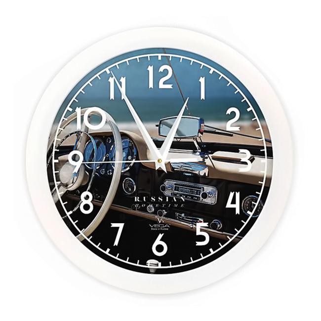 Часы настенные Вега Белый руль94672Оригинальные настенные часы круглой формы Вега Белый руль выполнены из пластика. Часы имеют три стрелки - часовую, минутную и секундную. Необычное дизайнерское решение и качество исполнения придутся по вкусу каждому. Оформите свой дом таким интерьерным аксессуаром или преподнесите его в качестве презента друзьям, и они оценят ваш оригинальный вкус и неординарность подарка.
