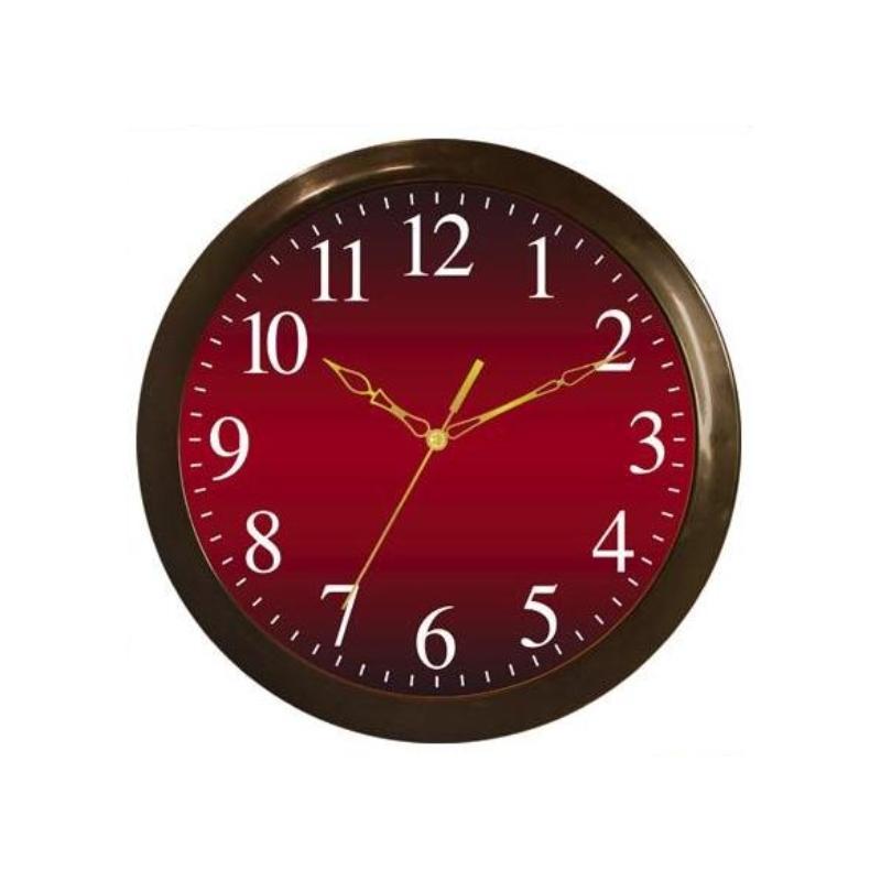 Часы настенные Вега Классика, цвет: бордовый. П1-9/7-5554 009312Оригинальные настенные часы круглой формы Вега Классика выполнены из пластика. Часы имеют три стрелки - часовую, минутную и секундную. Необычное дизайнерское решение и качество исполнения придутся по вкусу каждому. Оформите свой дом таким интерьерным аксессуаром или преподнесите его в качестве презента друзьям, и они оценят ваш оригинальный вкус и неординарность подарка.Часы работают от 1 батарейки типа АА напряжением 1,5 В (в комплект не входит).
