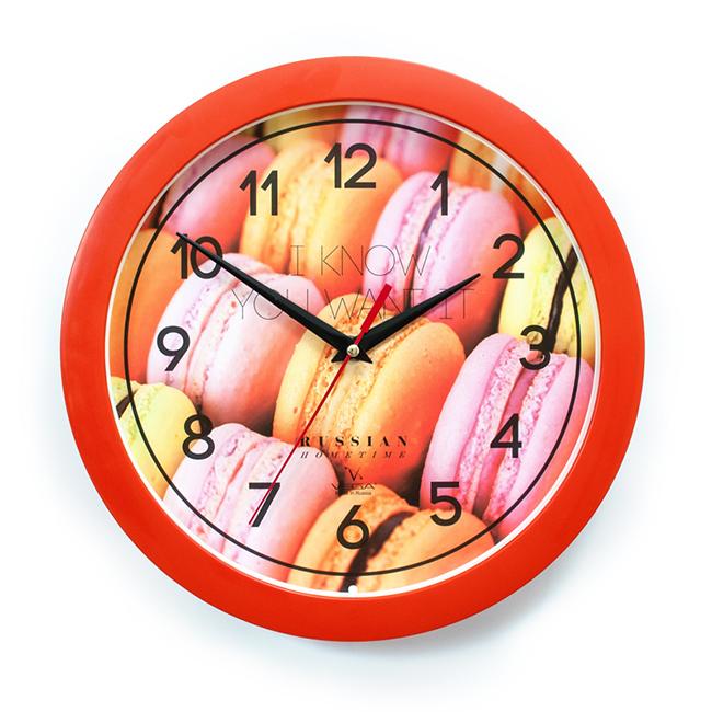 Часы настенные Вега ДесертП1-11/7-282Оригинальные настенные часы круглой формы Вега Десерт выполнены из пластика. Часы имеют три стрелки - часовую, минутную и секундную. Необычное дизайнерское решение и качество исполнения придутся по вкусу каждому. Оформите свой дом таким интерьерным аксессуаром или преподнесите его в качестве презента друзьям, и они оценят ваш оригинальный вкус и неординарность подарка.Часы работают от 1 батарейки типа АА напряжением 1,5 В (в комплект не входит).