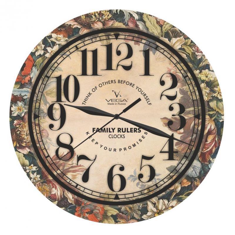 Часы настенные Вега Эллегия94672Оригинальные настенные часы круглой формы Вега Эллегиявыполнены из пластика. Часы имеют три стрелки - часовую, минутную и секундную. Необычное дизайнерское решение и качество исполнения придутся по вкусу каждому. Оформите свой дом таким интерьерным аксессуаром или преподнесите его в качестве презента друзьям, и они оценят ваш оригинальный вкус и неординарность подарка. Часы работают от 1 батарейки типа АА напряжением 1,5 В (в комплект не входит).