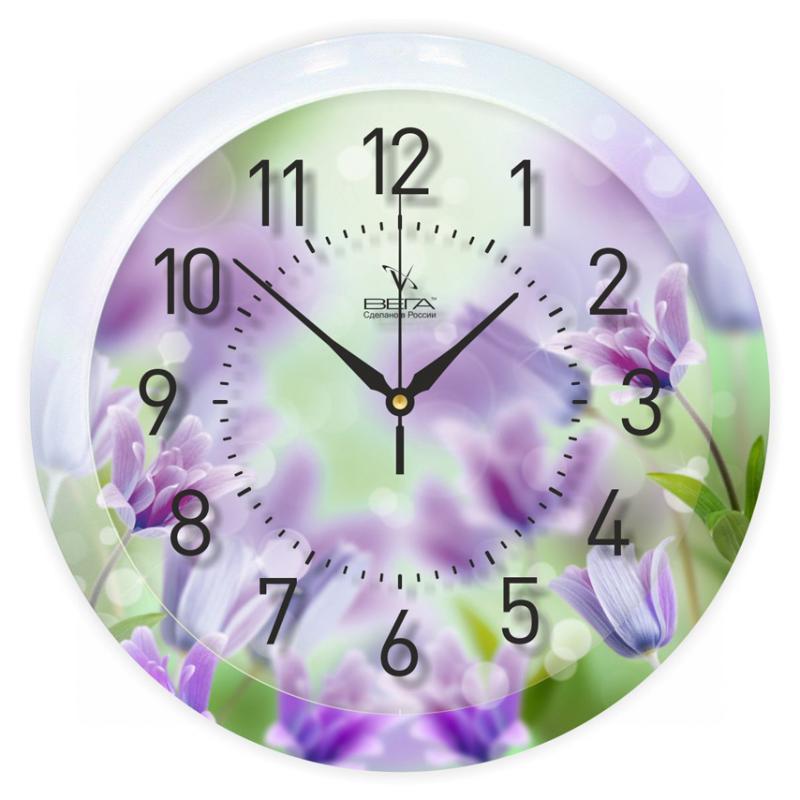 Часы настенные Вега Васильки94672Оригинальные настенные часы круглой формы Вега Васильки выполнены из пластика. Часы имеют три стрелки - часовую, минутную и секундную. Необычное дизайнерское решение и качество исполнения придутся по вкусу каждому. Оформите свой дом таким интерьерным аксессуаром или преподнесите его в качестве презента друзьям, и они оценят ваш оригинальный вкус и неординарность подарка.