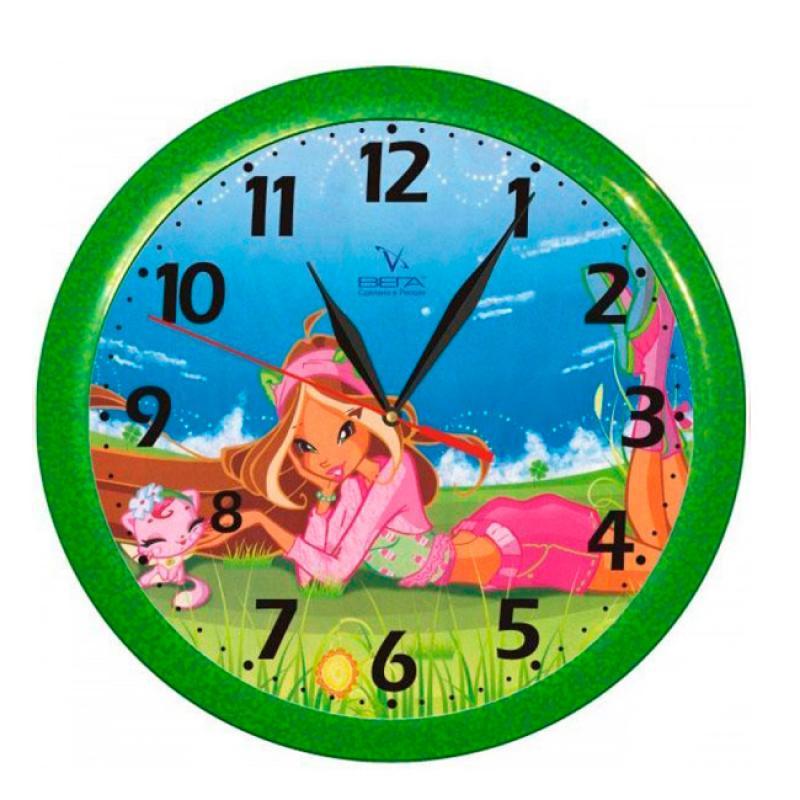 Часы настенные Вега ДевочкаП1-322/7-2Оригинальные настенные часы круглой формы Вега Девочка выполнены из пластика. Часы имеют три стрелки - часовую, минутную и секундную. Необычное дизайнерское решение и качество исполнения придутся по вкусу каждому. Оформите свой дом таким интерьерным аксессуаром или преподнесите его в качестве презента друзьям, и они оценят ваш оригинальный вкус и неординарность подарка.Часы работают от 1 батарейки типа АА напряжением 1,5 В (в комплект не входит).