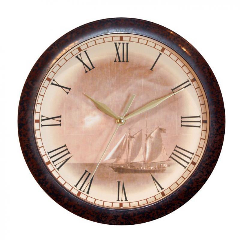 Часы настенные Вега Парусник, цвет: бежевый25051 7_желтыйОригинальные настенные часы круглой формы Вега Парусник выполнены из пластика. Часы имеют три стрелки - часовую, минутную и секундную. Необычное дизайнерское решение и качество исполнения придутся по вкусу каждому. Оформите свой дом таким интерьерным аксессуаром или преподнесите его в качестве презента друзьям, и они оценят ваш оригинальный вкус и неординарность подарка.Часы работают от 1 батарейки типа АА напряжением 1,5 В (в комплект не входит).